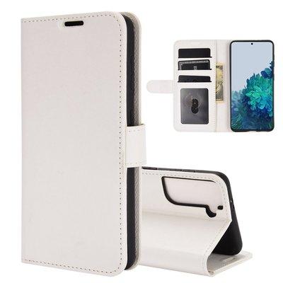 Samsung Galaxy S21 hoesje, Wallet bookcase, Wit