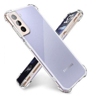 Samsung Galaxy S21 hoesje, Transparante shock proof gel case met verstevigde hoeken, Volledig doorzichtig
