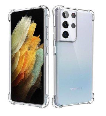 Samsung Galaxy S21 Ultra hoesje, Transparante shock proof gel case met verstevigde hoeken, Volledig doorzichtig