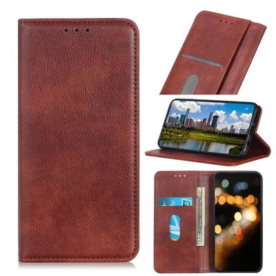 OnePlus 9 Pro hoesje, Luxe Wallet bookcase, Bruin