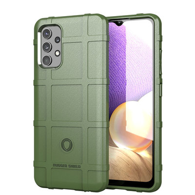 Samsung Galaxy A32 (4G) hoesje, Rugged Shield TPU Gelcase, Groen