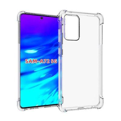 Samsung Galaxy A72 hoesje, MobyDefend Transparante Shockproof TPU Gelcase, Verstevigde Hoeken, Volledig Doorzichtig