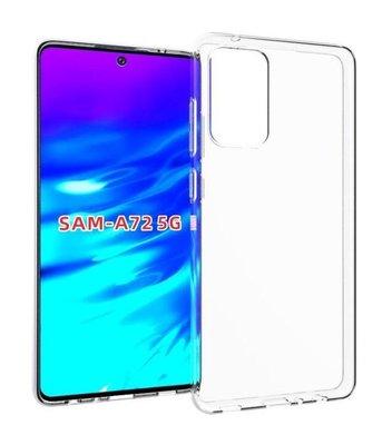 Samsung Galaxy A72 hoesje, MobyDefend Transparante TPU Gelcase, Volledig Doorzichtig