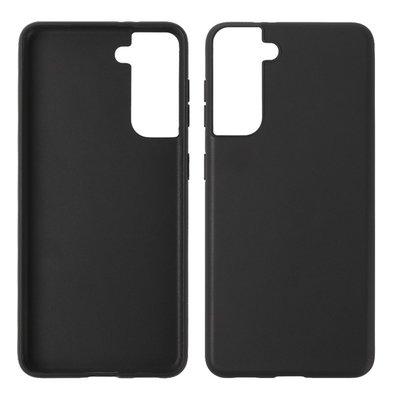 Samsung Galaxy S21 hoesje, MobyDefend  TPU Gelcase, Mat Zwart