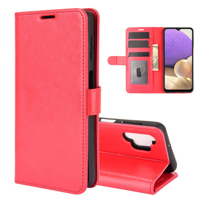Samsung Galaxy A32 (4G) hoesje, MobyDefend Wallet Book Case (Sluiting Achterkant), Rood