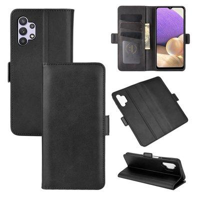 Samsung Galaxy A32 (4G), hoesje, MobyDefend Luxe Wallet Book Case (Sluiting Zijkant), Zwart