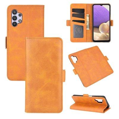 Samsung Galaxy A32 (4G), hoesje, MobyDefend Luxe Wallet Book Case (Sluiting Zijkant), Lichtbruin