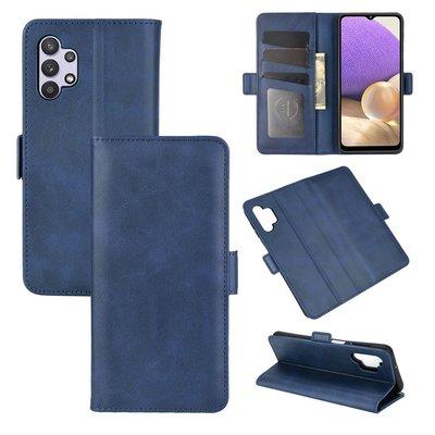 Samsung Galaxy A32 (4G), hoesje, MobyDefend Luxe Wallet Book Case (Sluiting Zijkant), Blauw