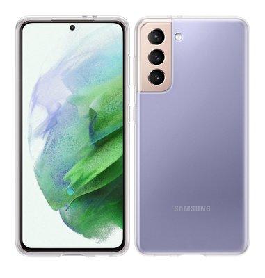 Samsung Galaxy S21 hoesje, MobyDefend Transparante TPU Gelcase, Volledig Doorzichtig