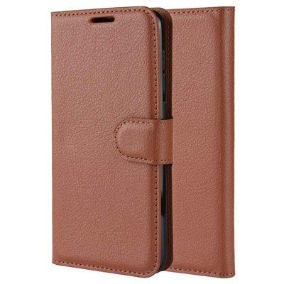 Samsung Galaxy S21 hoesje, MobyDefend Kunstleren Wallet Book Case, Bruin