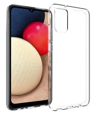 Samsung Galaxy A02s hoesje, MobyDefend Transparante TPU Gelcase, Volledig Doorzichtig