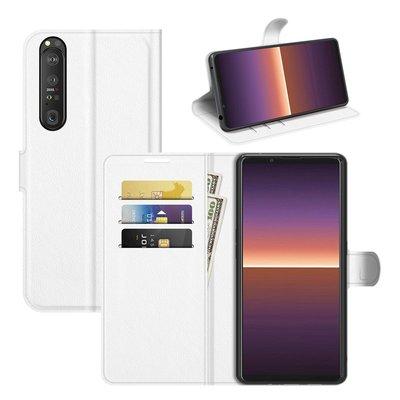Sony Xperia 1 III hoesje, MobyDefend Kunstleren Wallet Book Case, Wit