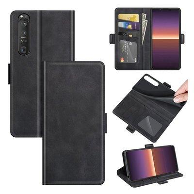 Sony Xperia 1 III hoesje, MobyDefend Luxe Wallet Book Case (Sluiting Zijkant), Zwart