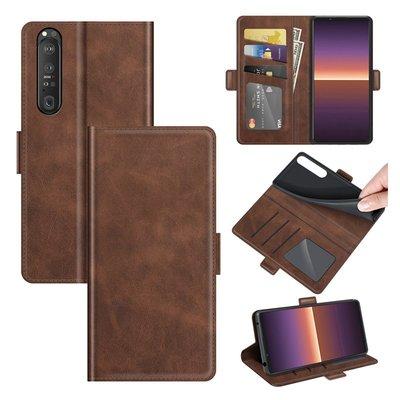 Sony Xperia 1 III hoesje, MobyDefend Luxe Wallet Book Case (Sluiting Zijkant), Bruin