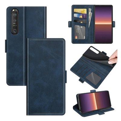 Sony Xperia 1 III hoesje, MobyDefend Luxe Wallet Book Case (Sluiting Zijkant), Blauw