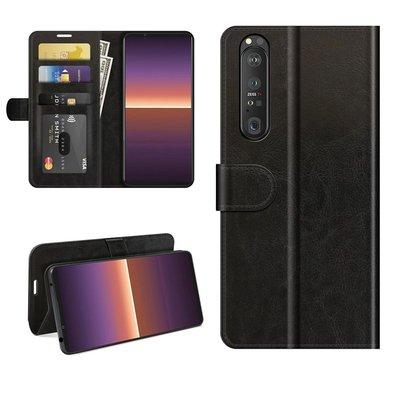 Sony Xperia 1 III hoesje, MobyDefend Wallet Book Case (Sluiting Achterkant), Zwart