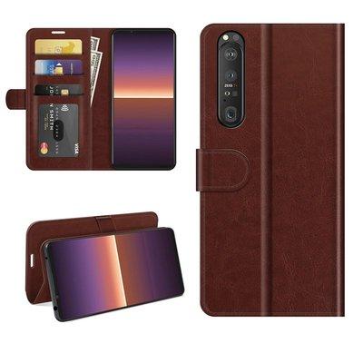 Sony Xperia 1 III hoesje, MobyDefend Wallet Book Case (Sluiting Achterkant), Bruin