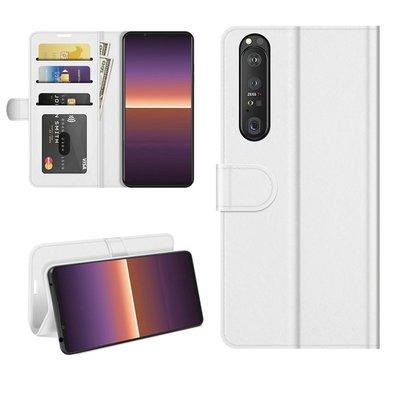 Sony Xperia 1 III hoesje, MobyDefend Wallet Book Case (Sluiting Achterkant), Wit