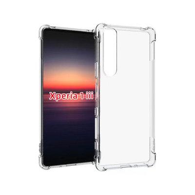 Sony Xperia 1 III hoesje, MobyDefend Transparante Shockproof TPU Gelcase, Verstevigde Hoeken, Volledig Doorzichtig