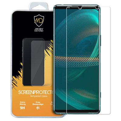 Sony Xperia 5 III screenprotector, MobyDefend Case-Friendly Gehard Glas Screensaver