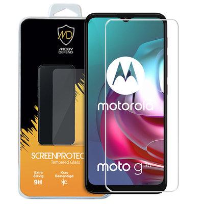 Motorola Moto G30 / G20 / G10 screenprotector, MobyDefend Case-Friendly Gehard Glas Screensaver