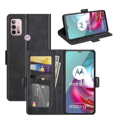 Motorola Moto G30 / G20 / G10 hoesje, MobyDefend Luxe Wallet Book Case (Sluiting Zijkant), Zwart