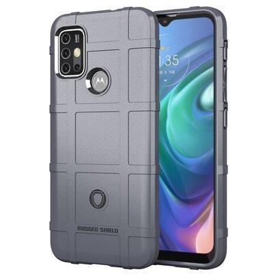 Motorola Moto G30 / G20 / G10 hoesje, Rugged Shield TPU Gelcase, Grijs