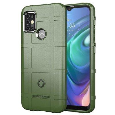 Motorola Moto G30 / G20 / G10 hoesje, Rugged Shield TPU Gelcase, Groen
