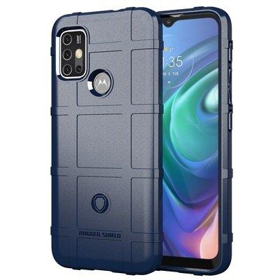 Motorola Moto G30 / G20 / G10 hoesje, Rugged Shield TPU Gelcase, Blauw