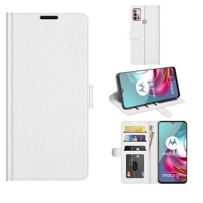 Motorola Moto G30 / G20 / G10 hoesje, MobyDefend Wallet Book Case (Sluiting Achterkant), Wit
