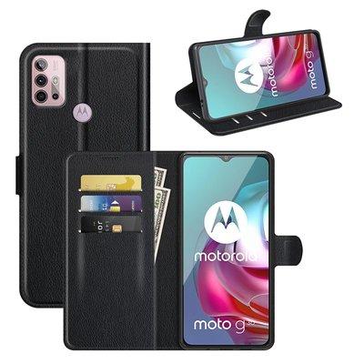 Motorola Moto G30 / G20 / G10 hoesje, MobyDefend Kunstleren Wallet Book Case, Zwart