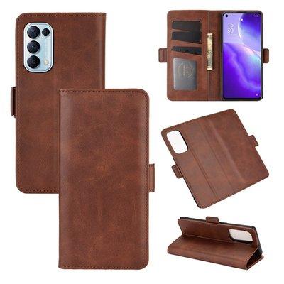 Oppo Find X3 Lite hoesje, MobyDefend Luxe Wallet Book Case (Sluiting Zijkant), Bruin