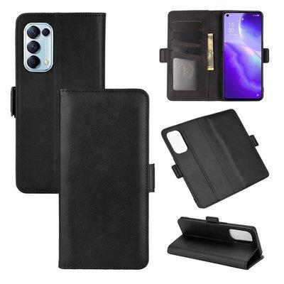 Oppo Find X3 Lite hoesje, MobyDefend Luxe Wallet Book Case (Sluiting Zijkant), Zwart