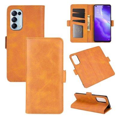 Oppo Find X3 Lite hoesje, MobyDefend Luxe Wallet Book Case (Sluiting Zijkant), Lichtbruin