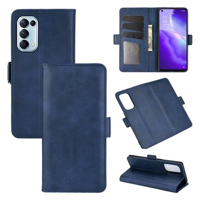 Oppo Find X3 Lite hoesje, MobyDefend Luxe Wallet Book Case (Sluiting Zijkant), Blauw