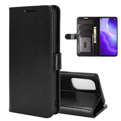Oppo Find X3 Lite hoesje, MobyDefend Wallet Book Case (Sluiting Achterkant), Zwart