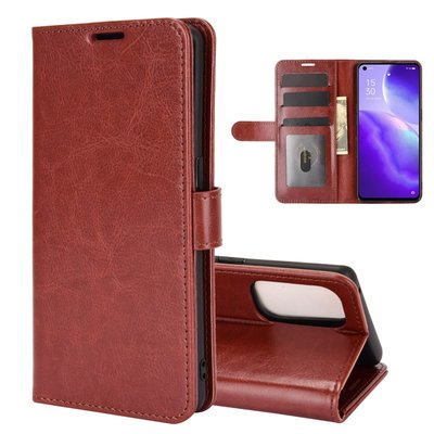 Oppo Find X3 Lite hoesje, MobyDefend Wallet Book Case (Sluiting Achterkant), Bruin