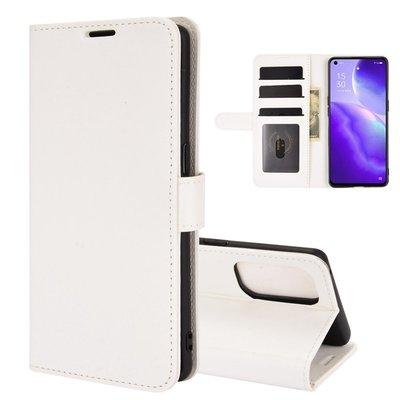 Oppo Find X3 Lite hoesje, MobyDefend Wallet Book Case (Sluiting Achterkant), Wit