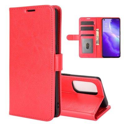 Oppo Find X3 Lite hoesje, MobyDefend Wallet Book Case (Sluiting Achterkant), Rood