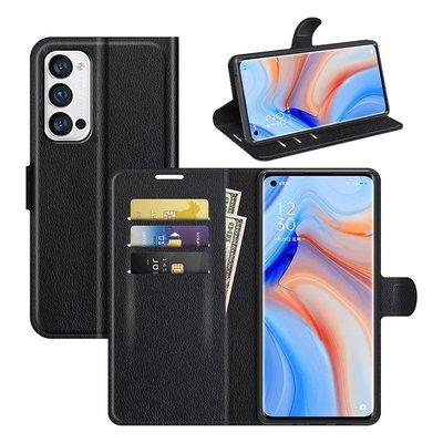 Oppo Find X3 Neo hoesje, MobyDefend Kunstleren Wallet Book Case, Zwart