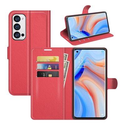 Oppo Find X3 Neo hoesje, MobyDefend Kunstleren Wallet Book Case, Rood