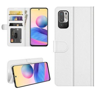 Xiaomi Redmi Note 10 5G hoesje, MobyDefend Wallet Book Case (Sluiting Achterkant), Wit
