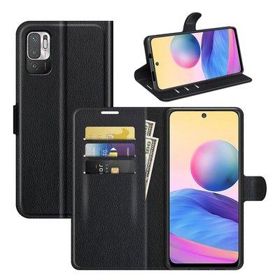 Xiaomi Redmi Note 10 5G hoesje, MobyDefend Kunstleren Wallet Book Case, Zwart