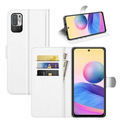 Xiaomi Redmi Note 10 5G hoesje, MobyDefend Kunstleren Wallet Book Case, Wit