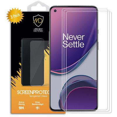 3-Pack OnePlus 8T Screenprotectors, MobyDefend Case-Friendly Gehard Glas Screensavers
