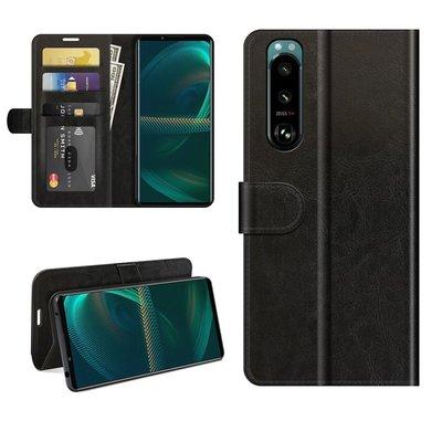 Sony Xperia 5 III hoesje, MobyDefend Wallet Book Case (Sluiting Achterkant), Zwart