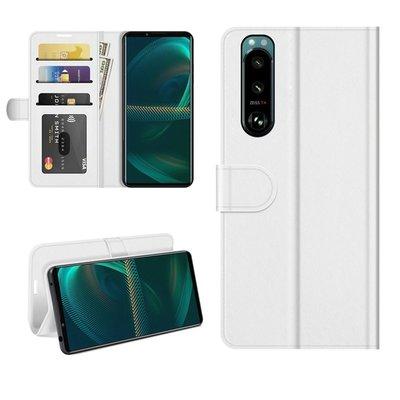 Sony Xperia 5 III hoesje, MobyDefend Wallet Book Case (Sluiting Achterkant), Wit