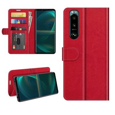 Sony Xperia 5 III hoesje, MobyDefend Wallet Book Case (Sluiting Achterkant), Rood