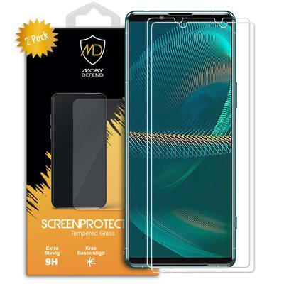 2-Pack Sony Xperia 5 III Screenprotectors, MobyDefend Case-Friendly Gehard Glas Screensavers