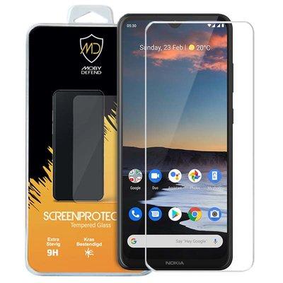 Nokia 5.3 screenprotector, MobyDefend Case-Friendly Gehard Glas Screensaver